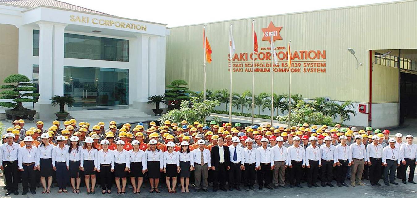 công ty cổ phần SAKI chuyên sản xuất giàn giáo và cốp pha nhôm