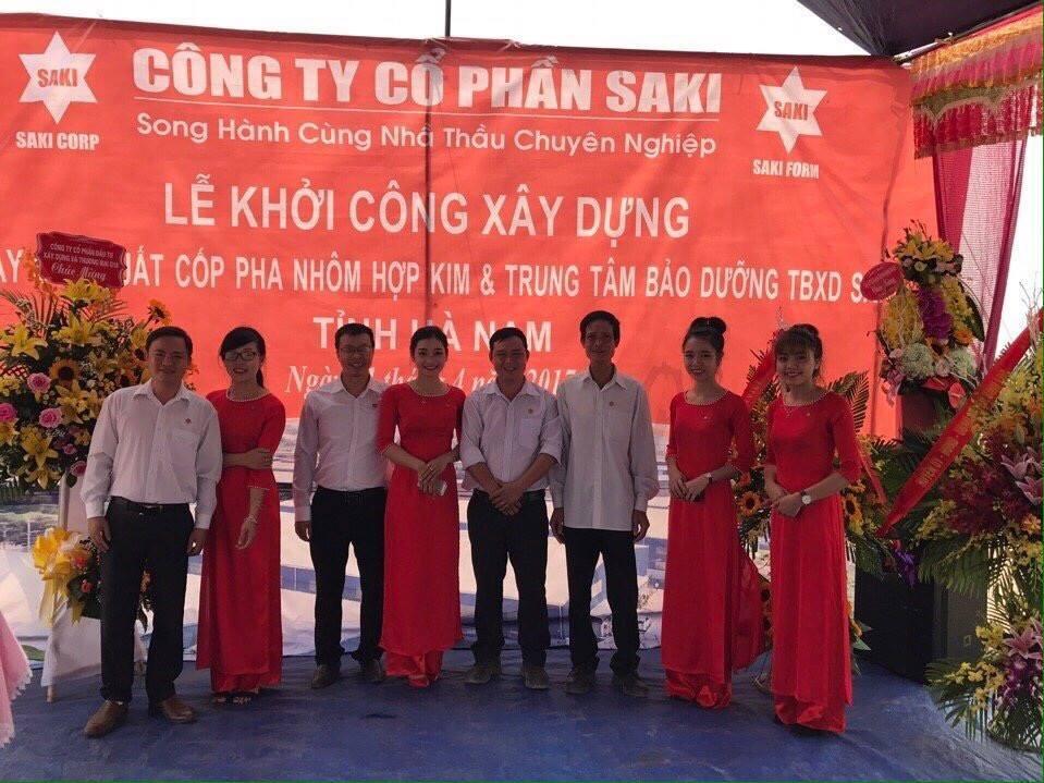 lễ khởi công nhà máy cốp pha nhôm thứ hai tại Hà Nam của tổng công ty Saki